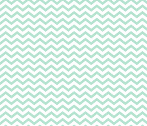 chevron mint green and white fabric by misstiina on Spoonflower - custom fabric