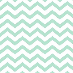 chevron mint green and white