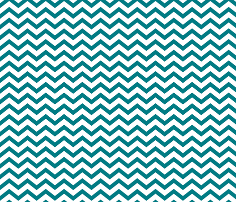 chevron dark teal and white fabric by misstiina on Spoonflower - custom fabric
