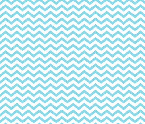 chevron sky blue fabric by misstiina on Spoonflower - custom fabric
