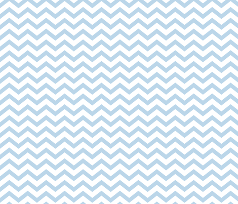 chevron powder blue and white fabric by misstiina on Spoonflower - custom fabric