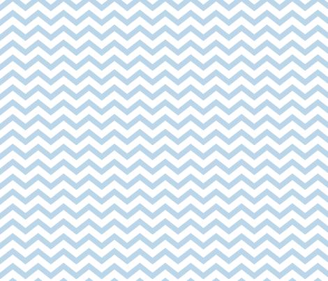 chevron powder blue and white fabric by misstiina on Spoonflower - custom fabric