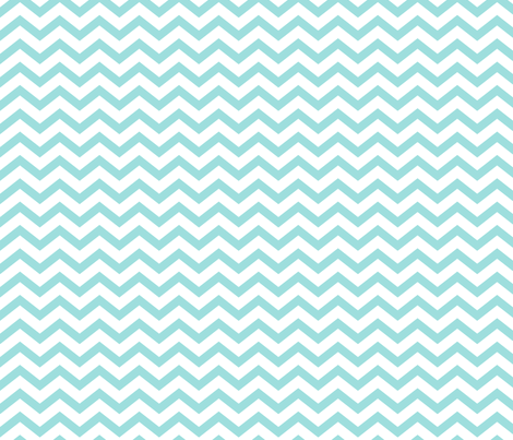 chevron light teal fabric by misstiina on Spoonflower - custom fabric