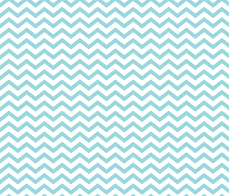 chevron teal and white fabric by misstiina on Spoonflower - custom fabric