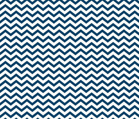 chevron navy blue and white fabric by misstiina on Spoonflower - custom fabric
