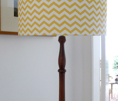 chevron lemon yellow
