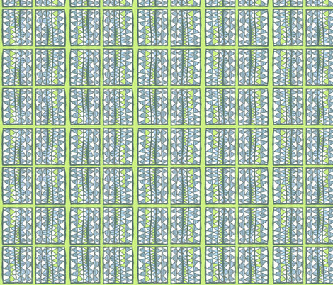 Gelati stripes on lime, vertical, medium fabric by su_g on Spoonflower - custom fabric