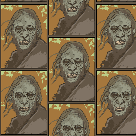 zombieman fabric by buffy_sunders on Spoonflower - custom fabric