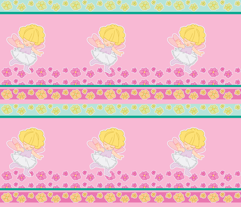 Flower fairy fabric by mikka on Spoonflower - custom fabric