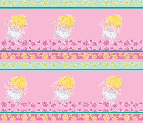 Flower fairy fabric by mikka on Spoonflower - custom fabric