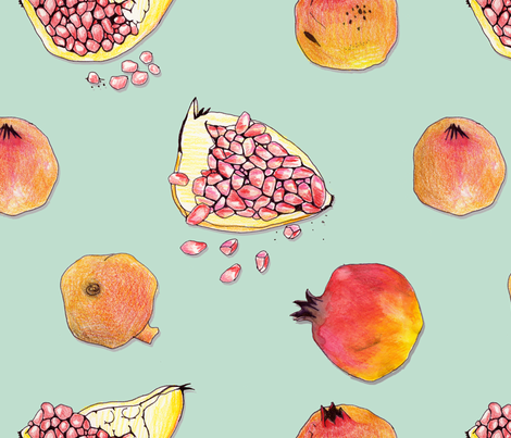 pomegranate 2 fabric by marinamolares on Spoonflower - custom fabric