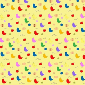 Birdies & Apples in yellow