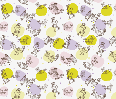 Birdies fabric by anastasiia-ku on Spoonflower - custom fabric