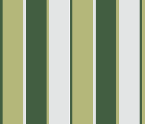 Peg Doll Green Stripe fabric by ani_bee on Spoonflower - custom fabric