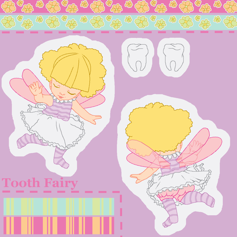 Tooth Fairy ornament fabric by mikka on Spoonflower - custom fabric