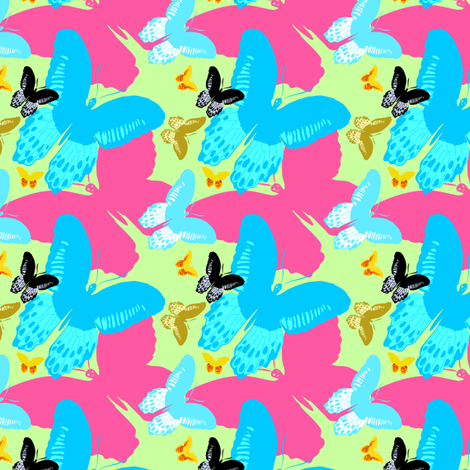 Butterfly Wonderland overlays fabric by eyecontact on Spoonflower - custom fabric