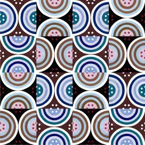 Circles Teal, Brown, Blue