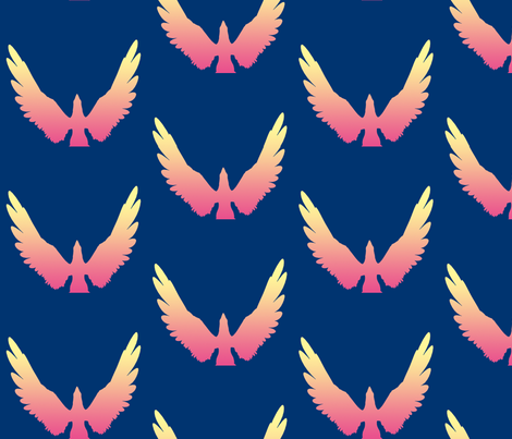 Eagles 4, L fabric by animotaxis on Spoonflower - custom fabric