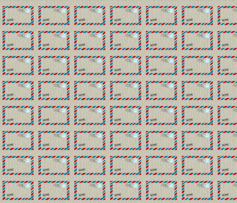 Airmail From Santa fabric by platosquirrel on Spoonflower - custom fabric