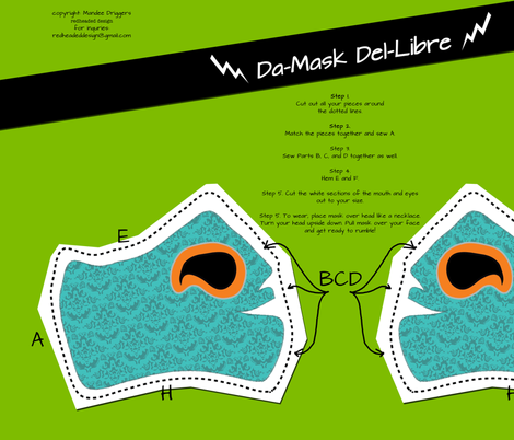 Da Mask Del Libre fabric by mandeedriggz on Spoonflower - custom fabric