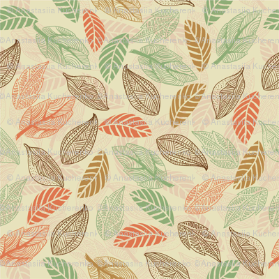 Leaves in vector