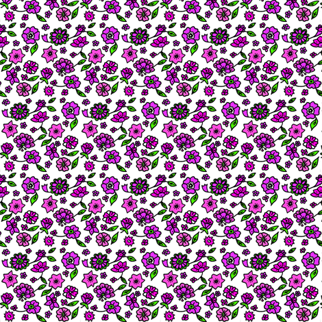 sixtiesflowerpower fabric by theunicornandthewasp on Spoonflower - custom fabric