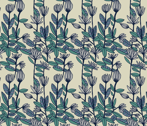 daisies fabric by marinamolares on Spoonflower - custom fabric