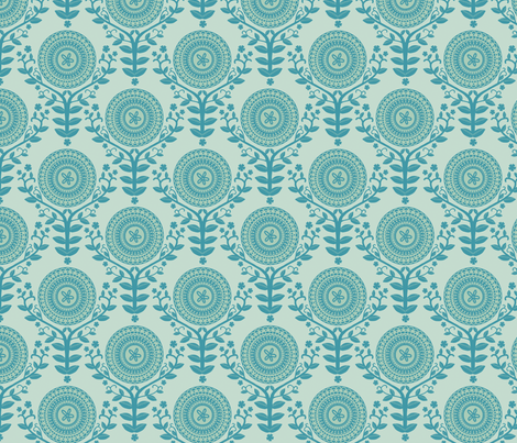 Paper Doily Blue fabric by lydia_meiying on Spoonflower - custom fabric