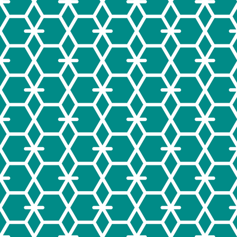 Tortoiseshell 2A (Green) fabric by nekineko on Spoonflower - custom fabric