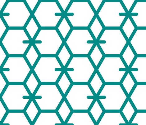 Tortoiseshell 2B (Aquamarine) fabric by nekineko on Spoonflower - custom fabric