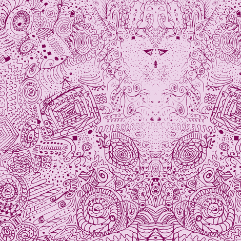 Doodle Spiral Swirlygigs through Rose Colored Glasses