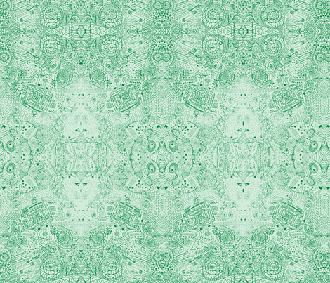 Doodle Spiral Swirlygigsin Grass Green fabric by fentonslee on Spoonflower - custom fabric