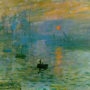 Monet - Impression Sunrise (1872)