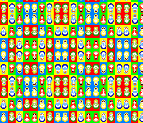 Russian dolls fabric by squeakyangel on Spoonflower - custom fabric