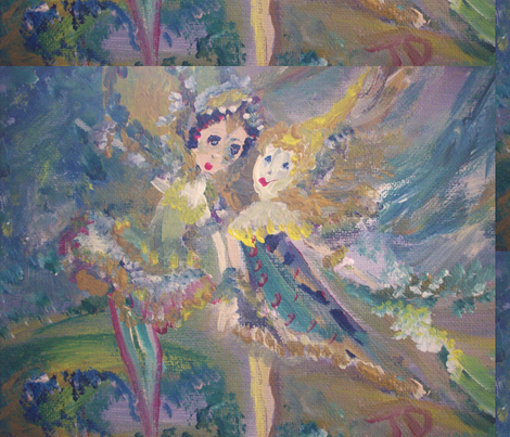 Storm and the fairy from the golden court fabric by myartself on Spoonflower - custom fabric