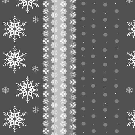 snowflakes_on_grey fabric by elizabethjones on Spoonflower - custom fabric