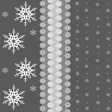 snowflakes_on_grey4 fabric by elizabethjones on Spoonflower - custom fabric