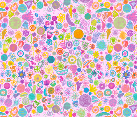flower_pattern2 fabric by spicysteweddemon on Spoonflower - custom fabric