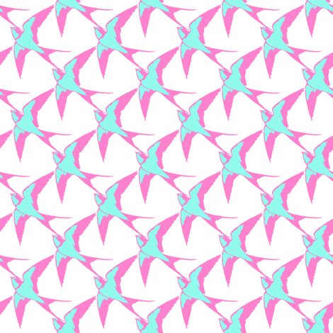 Swallow fabric by spicysteweddemon on Spoonflower - custom fabric