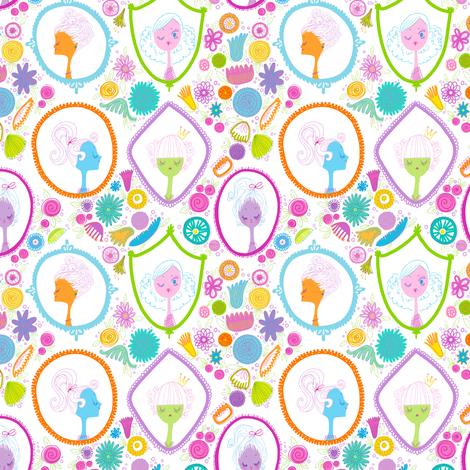 Girly Cameos fabric by spicysteweddemon on Spoonflower - custom fabric