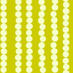 Imperfect Circles in Pearl and Chartreuse