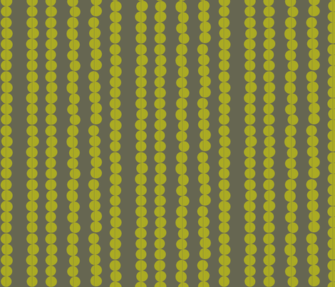Imperfect Circles in Olive and Grey fabric by bluenini on Spoonflower - custom fabric