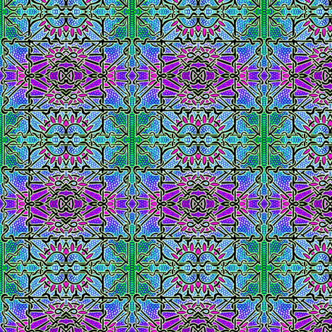 Stained Glass Garden fabric by edsel2084 on Spoonflower - custom fabric