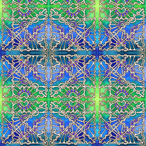 Steampunk Chain Link Fence fabric by edsel2084 on Spoonflower - custom fabric