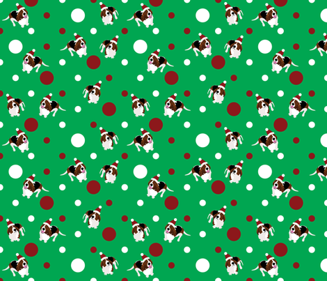 Happy Howlidays (Green) fabric by robyriker on Spoonflower - custom fabric