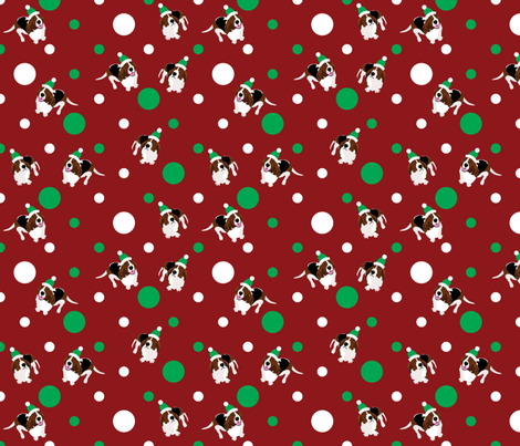 Happy Howlidays (Red) fabric by robyriker on Spoonflower - custom fabric