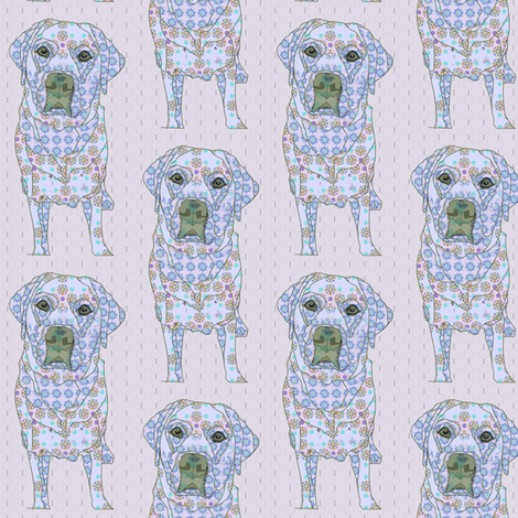 Bentley in Blue fabric by david_kent_collections on Spoonflower - custom fabric