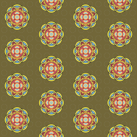 Eye of The Buddha fabric by david_kent_collections on Spoonflower - custom fabric