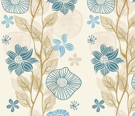 vertical floral pattern fabric by anastasiia-ku on Spoonflower - custom fabric