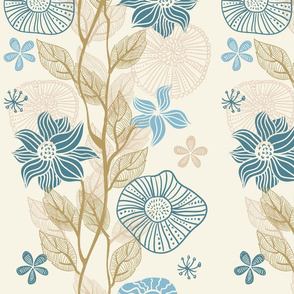 vertical floral pattern